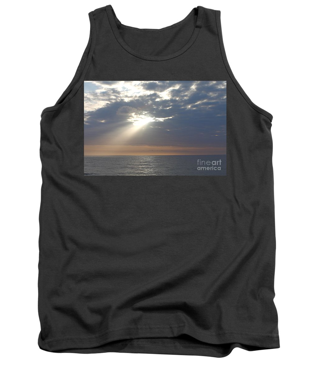 Sky Tank Top featuring the photograph Morning Sunburst by Nadine Rippelmeyer