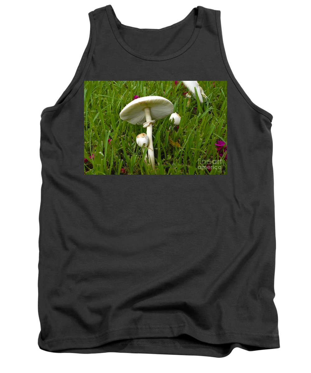 Mushrooms Tank Top featuring the photograph Morning Surprise by David Lee Thompson