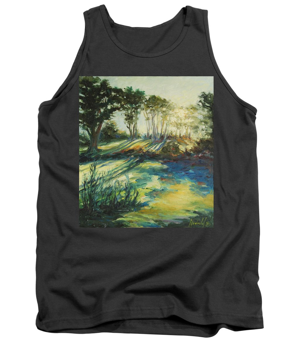 Sunrise Tank Top featuring the painting Morning Walk by Rick Nederlof