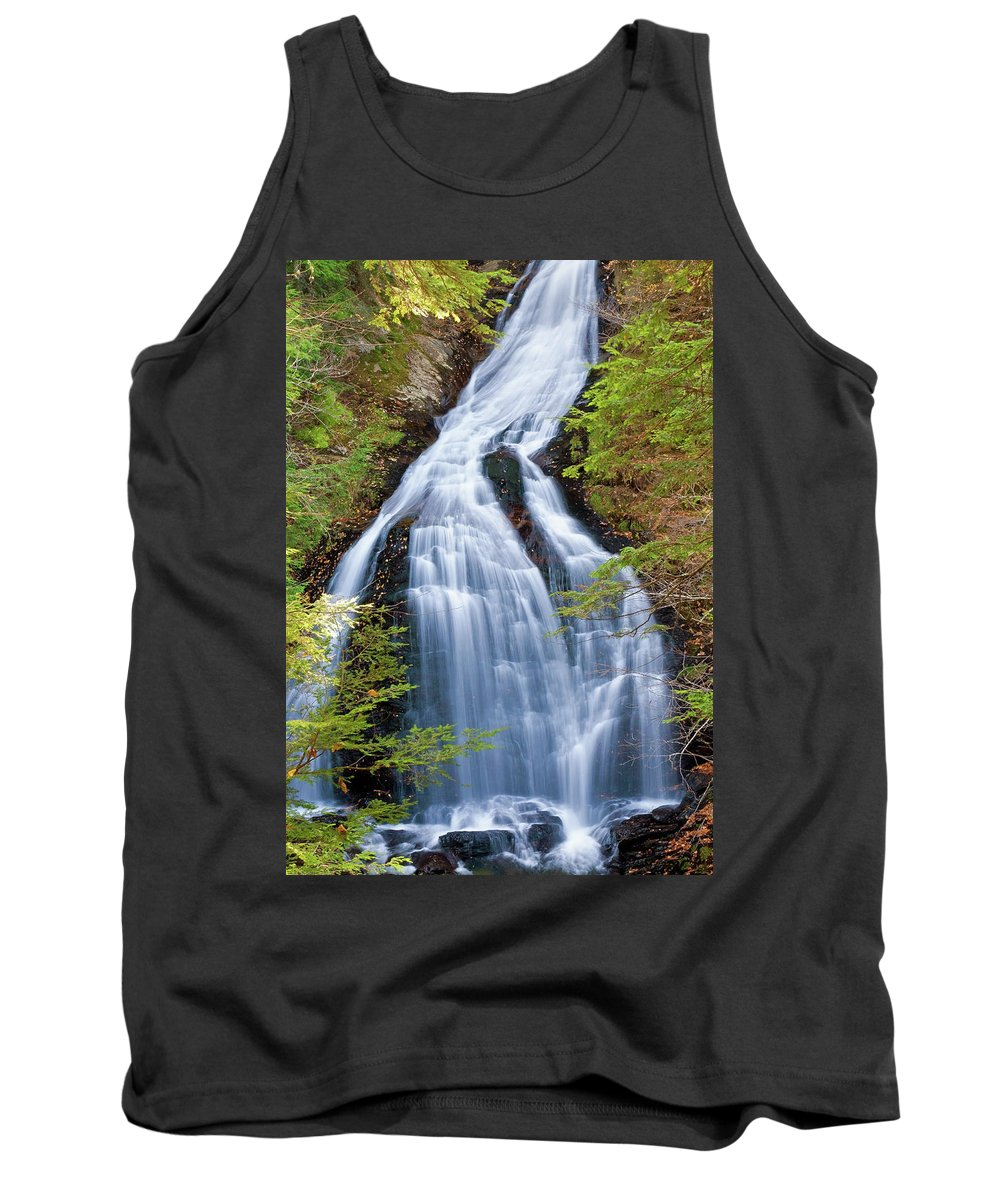 Waterfall Tank Top featuring the photograph Moss Glen Falls Stowe by David Freuthal