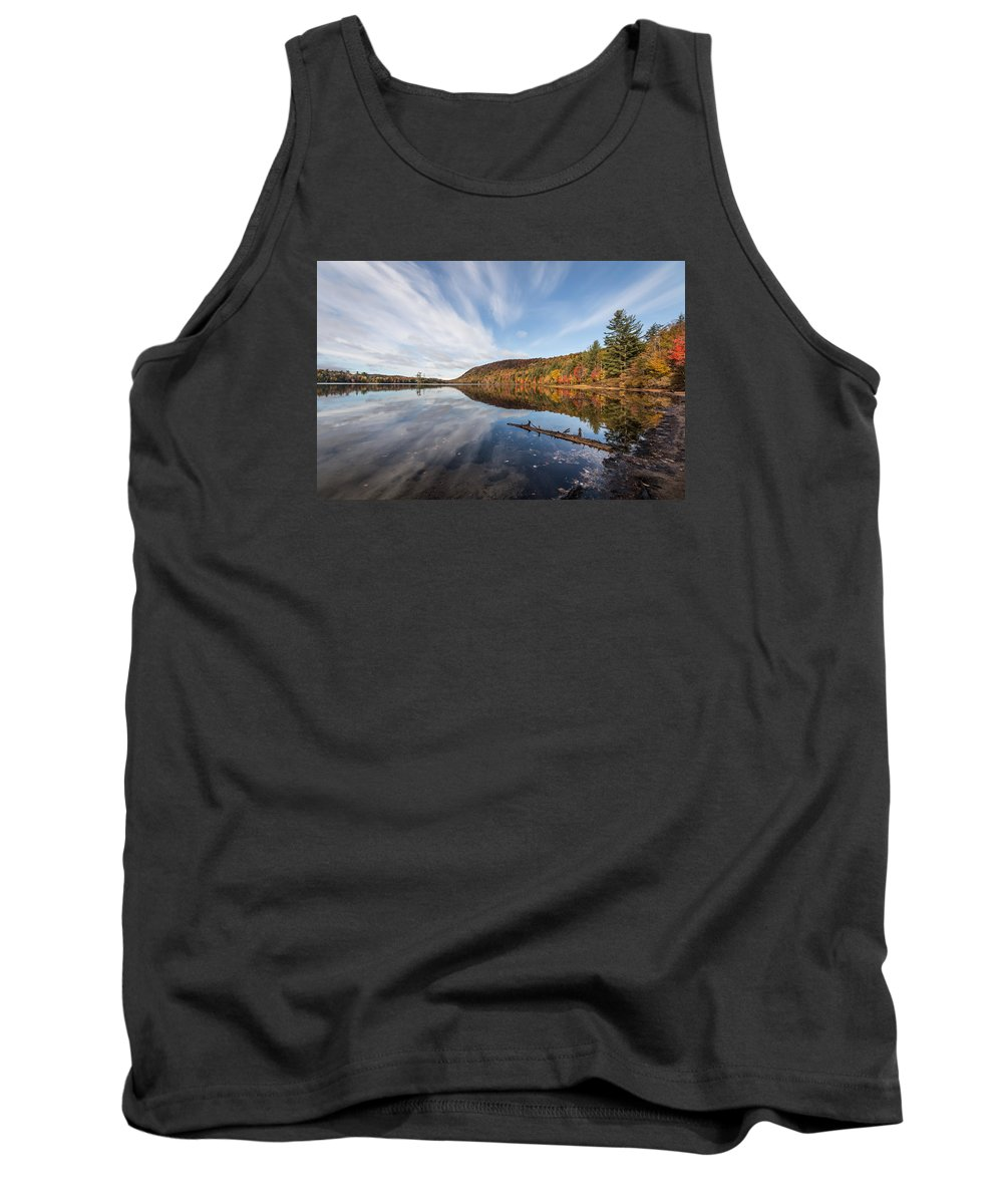 Moss Lake Tank Top featuring the photograph Moss Lake by Sandy Roe