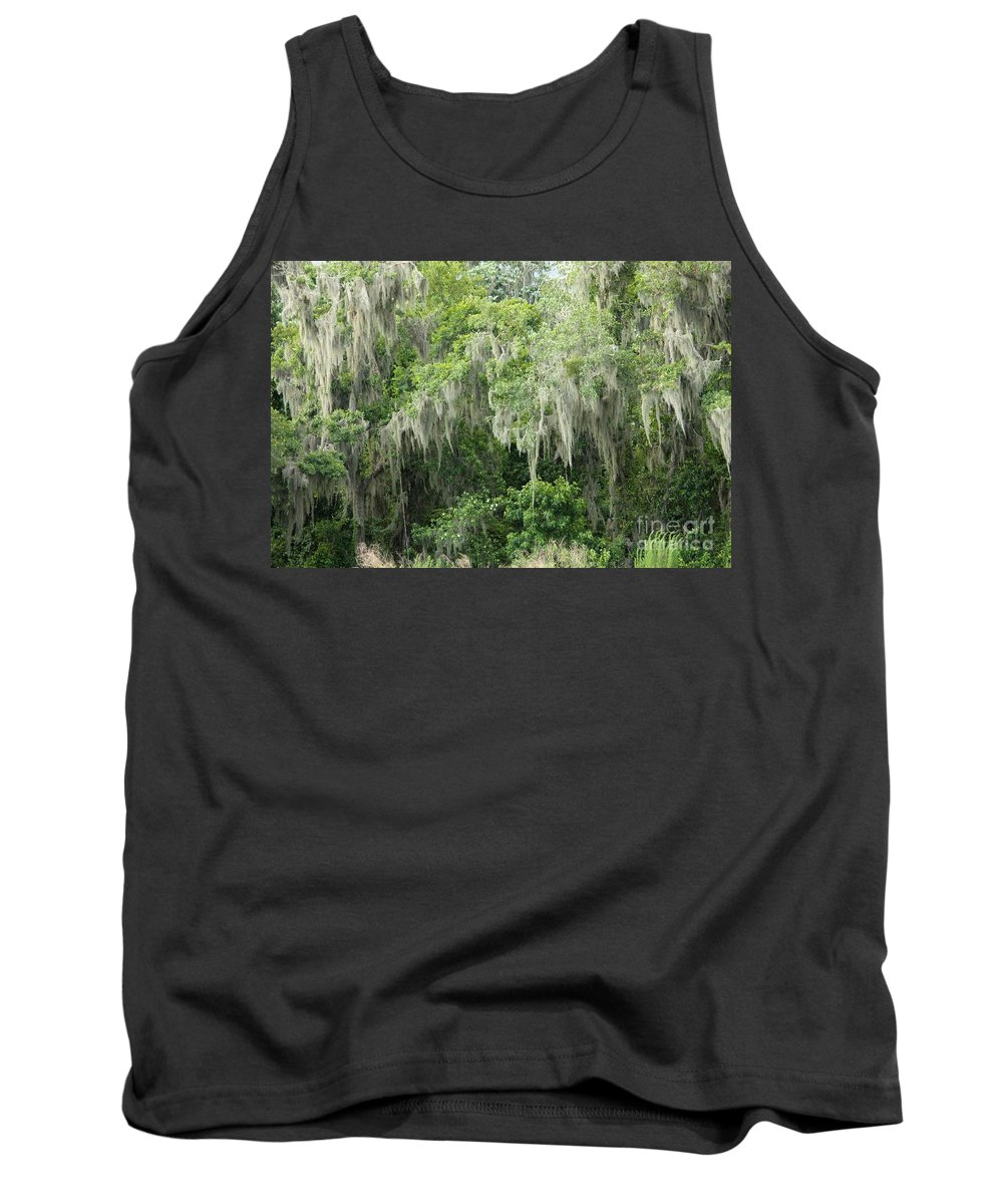 Moss Tank Top featuring the photograph Mossy Branches by Carol Groenen