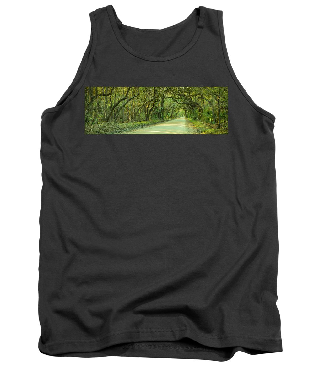 Oak Tank Top featuring the photograph Mossy Oaks Canopy Panorama by Ranjay Mitra