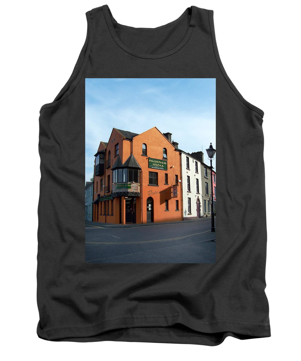 Ireland Tank Top featuring the photograph Mother India Restaurant Athlone Ireland by Teresa Mucha