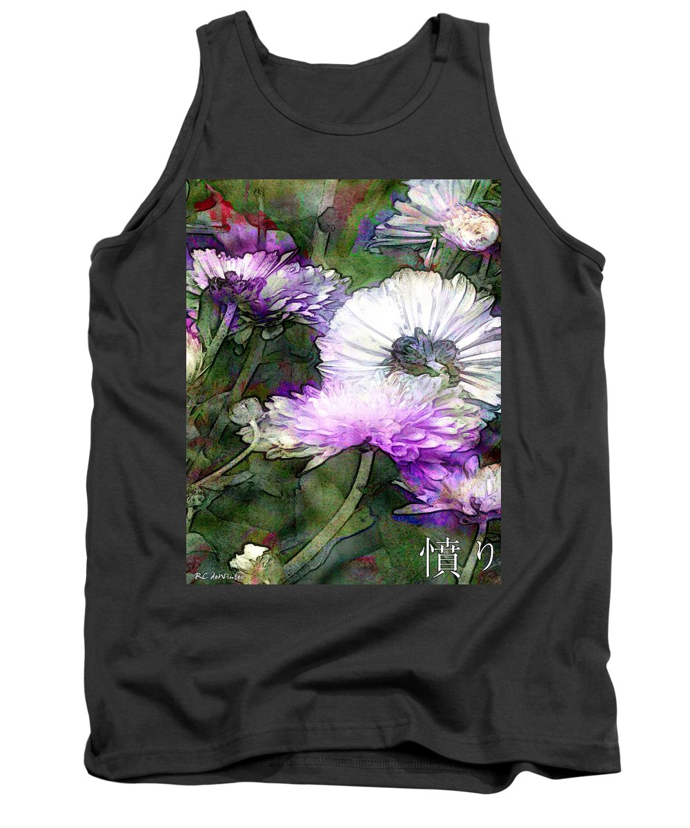 Flowers Tank Top featuring the painting Motif Japonica No. 12 by RC DeWinter