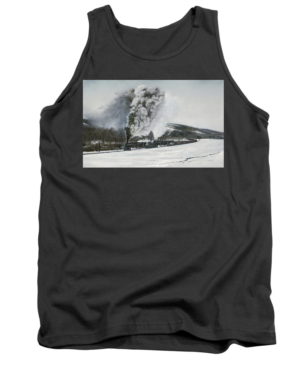 Trains Tank Top featuring the painting Mount Carmel Eruption by David Mittner