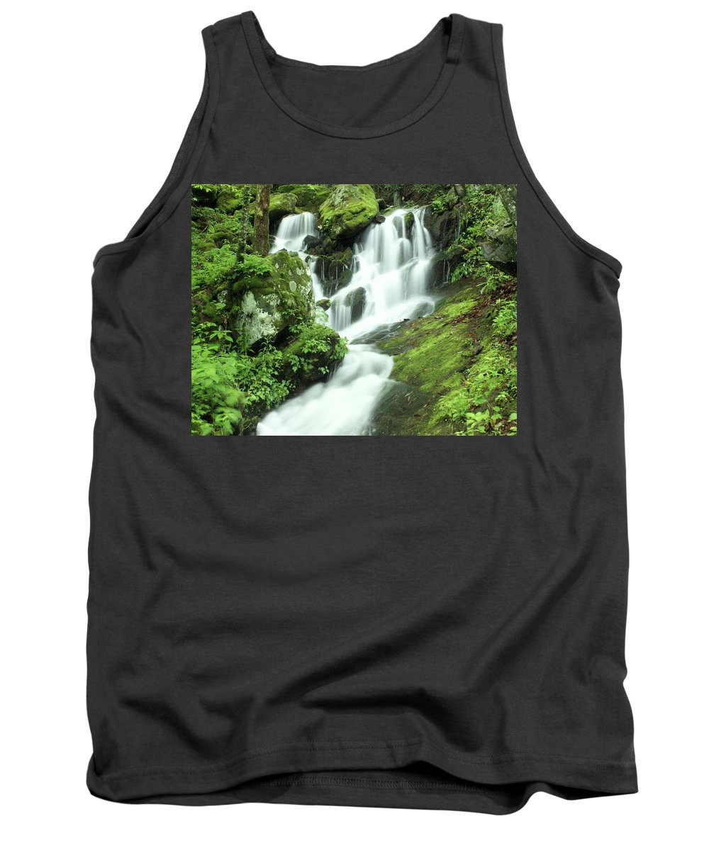 Waterfalls Tank Top featuring the photograph Mountain Falls by Marty Koch