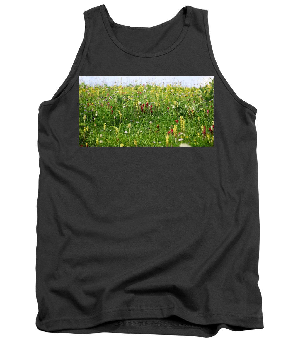 Fine Art Photography Tank Top featuring the photograph Mountain Flowers by David Lee Thompson