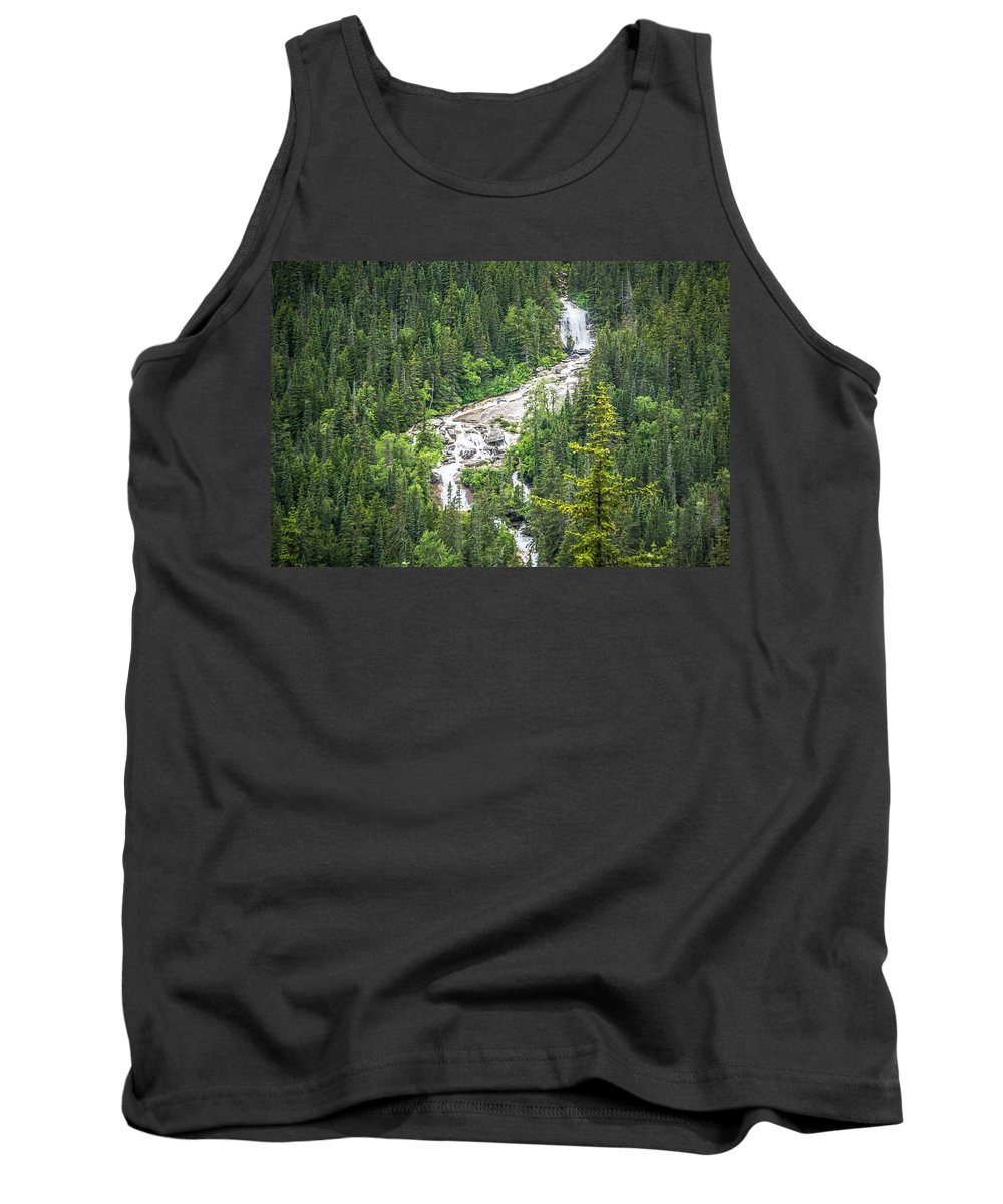 Landscape Tank Top featuring the photograph Mountain Range Inn British Columbia Alaskan Rockies by Alex Grichenko