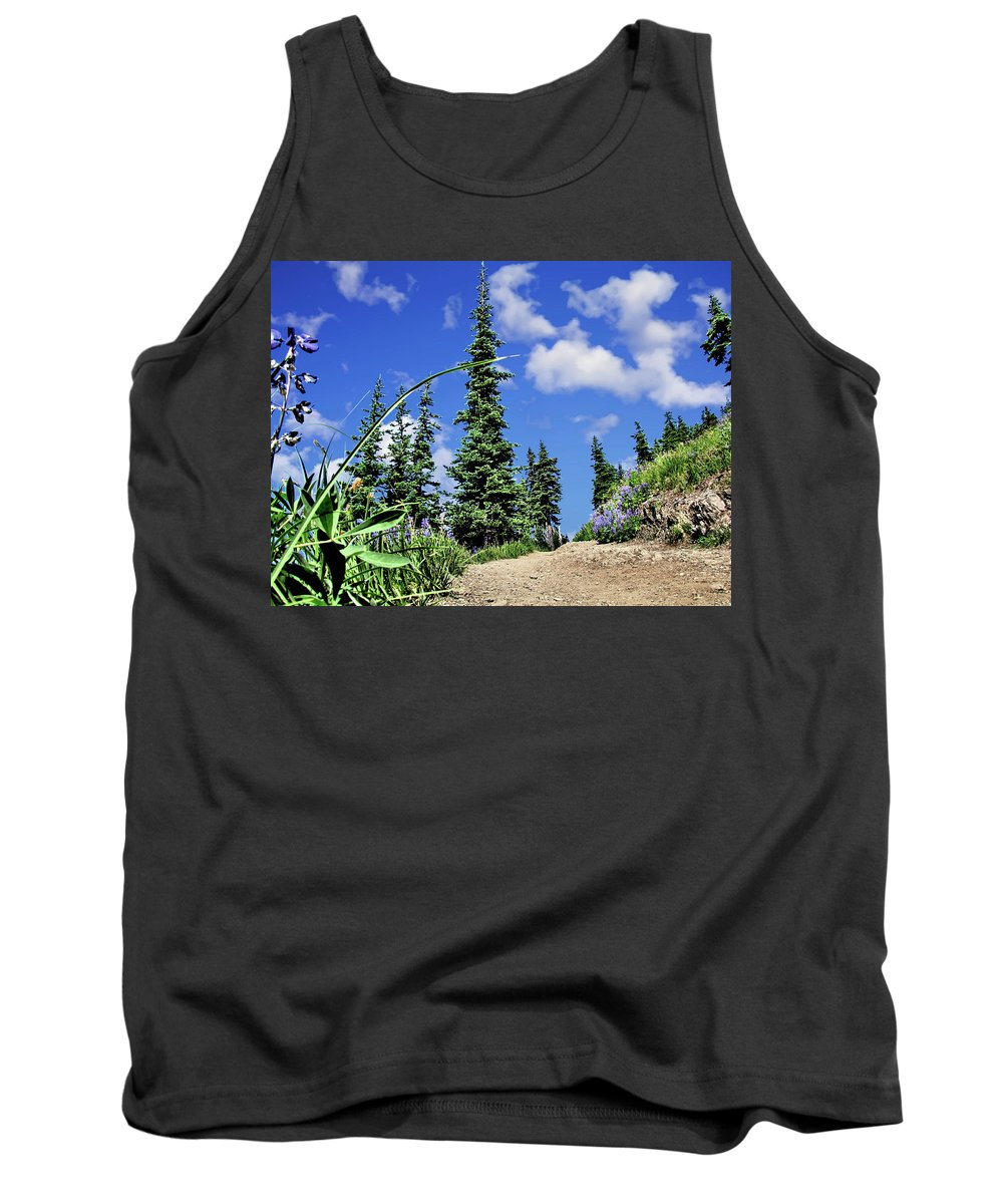 Trail Tank Top featuring the photograph Mountain Trail - Olympic National Park by John Trommer