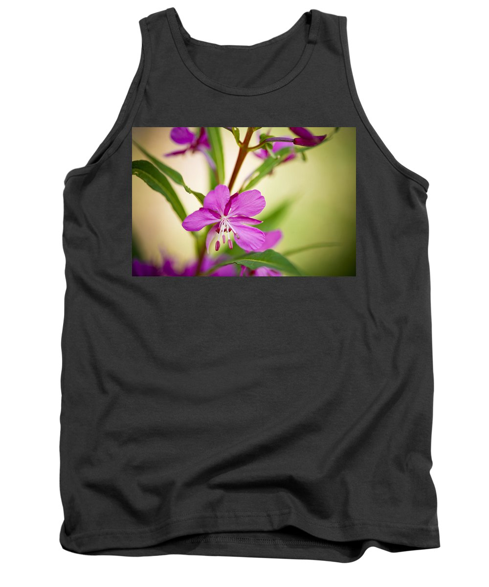 Wildflower Tank Top featuring the photograph Mountain Wildflower In Summer by Marilyn Hunt