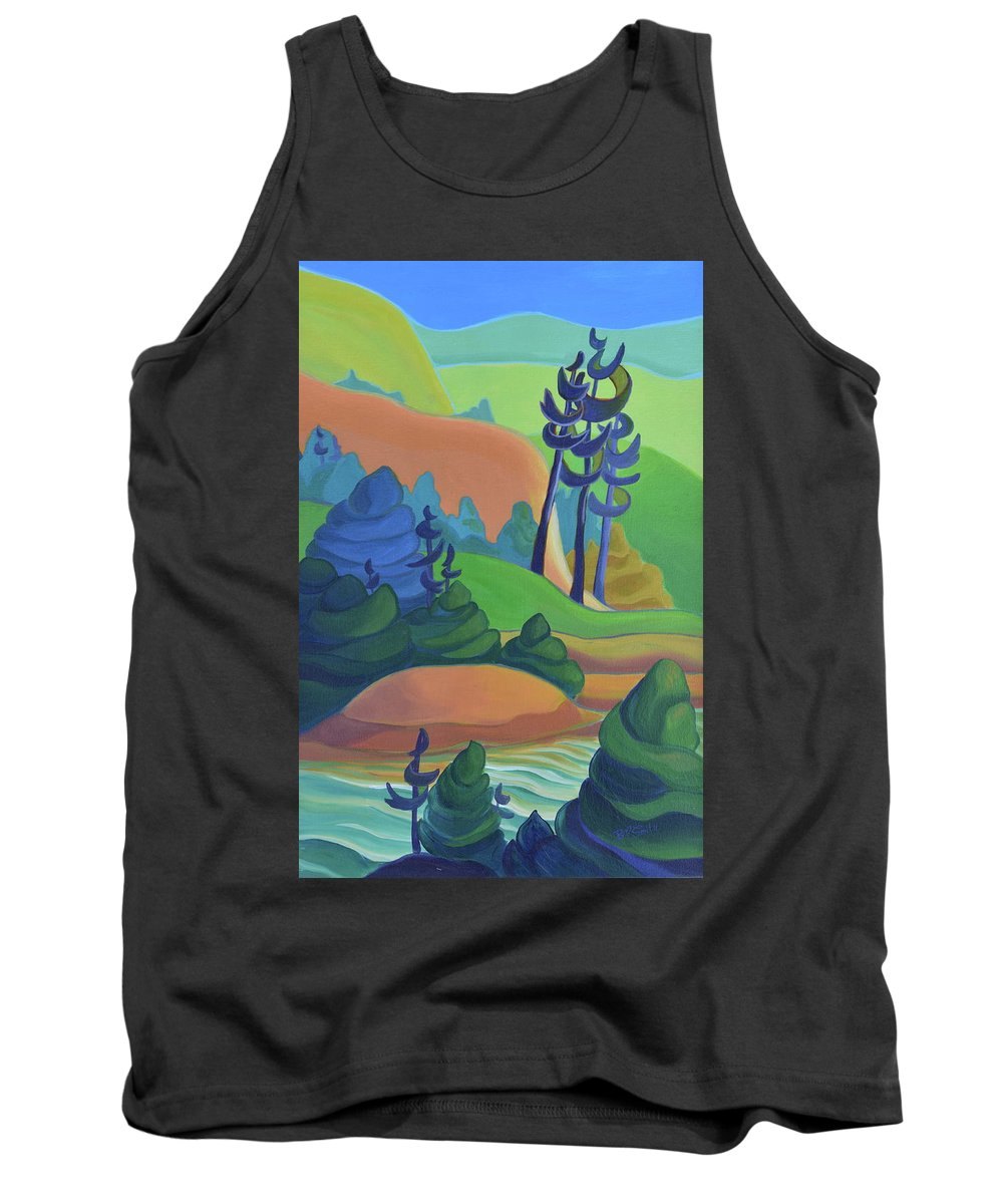 Group Of Seven Tank Top featuring the painting Hills In Spring by Barbel Smith