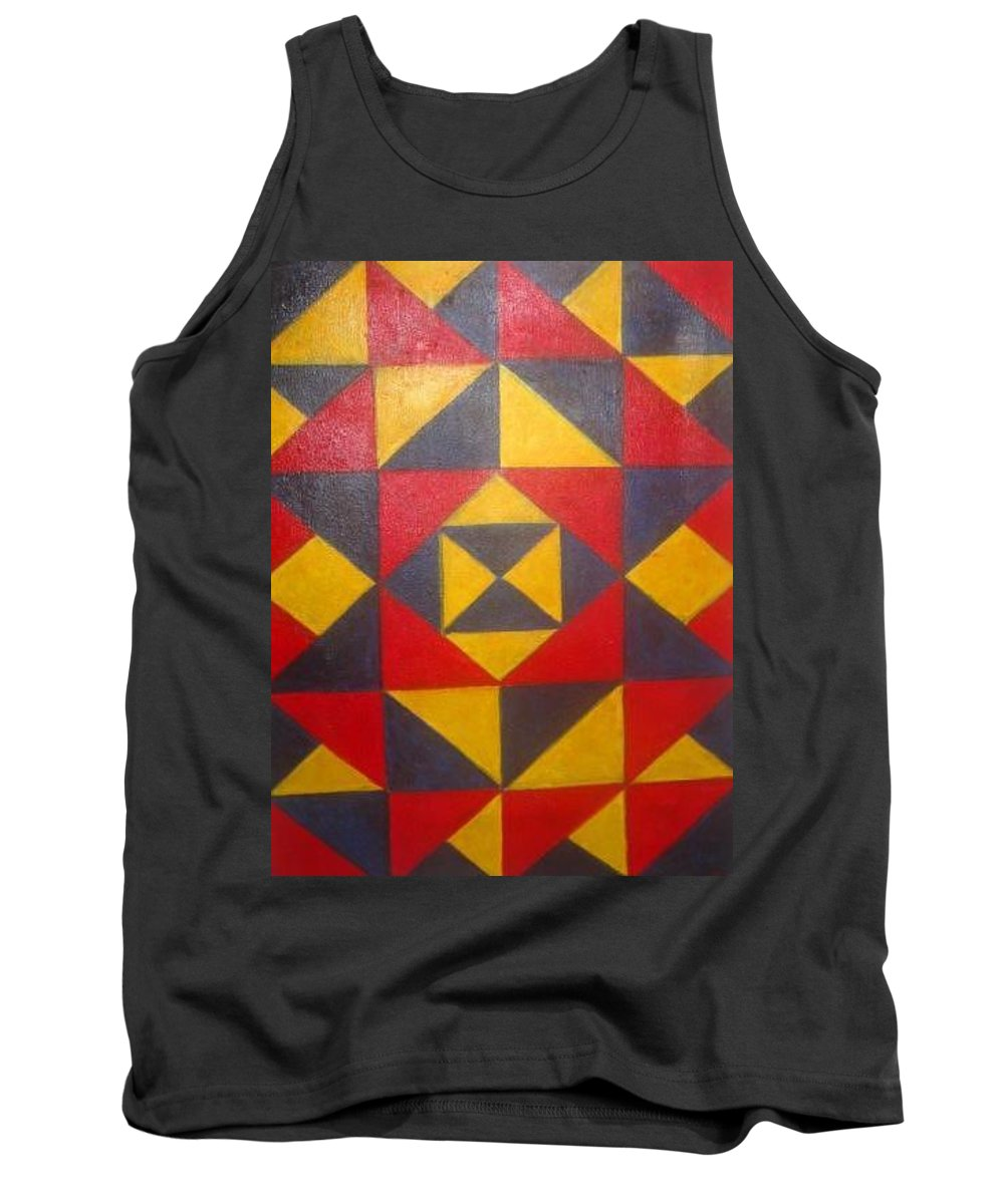 Abstract Tank Top featuring the painting Mountian Woman by Andrew Johnson
