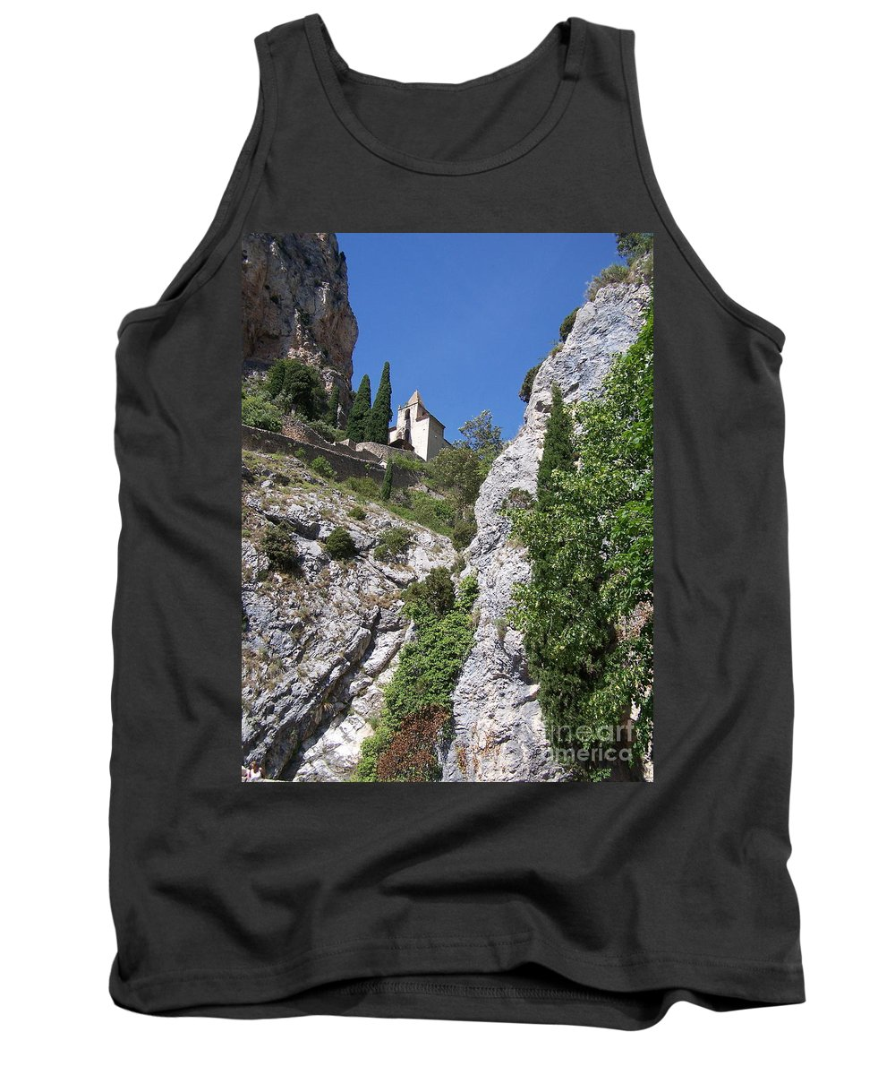 Church Tank Top featuring the photograph Moustier St. Marie Church by Nadine Rippelmeyer