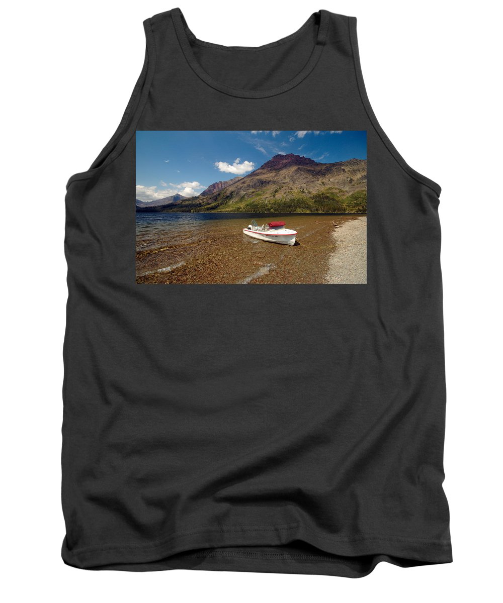 Moutains Tank Top featuring the photograph Moutain Lake by Sebastian Musial