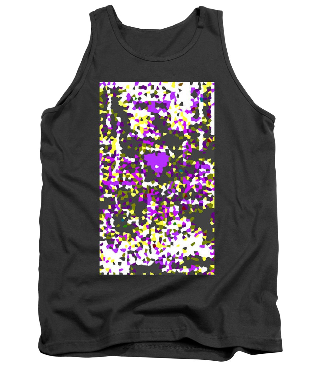 Moveonart! Digital Gallery Tank Top featuring the digital art Moveonart Abstract Visual Therapy With Purple Heart by Jacob Kanduch