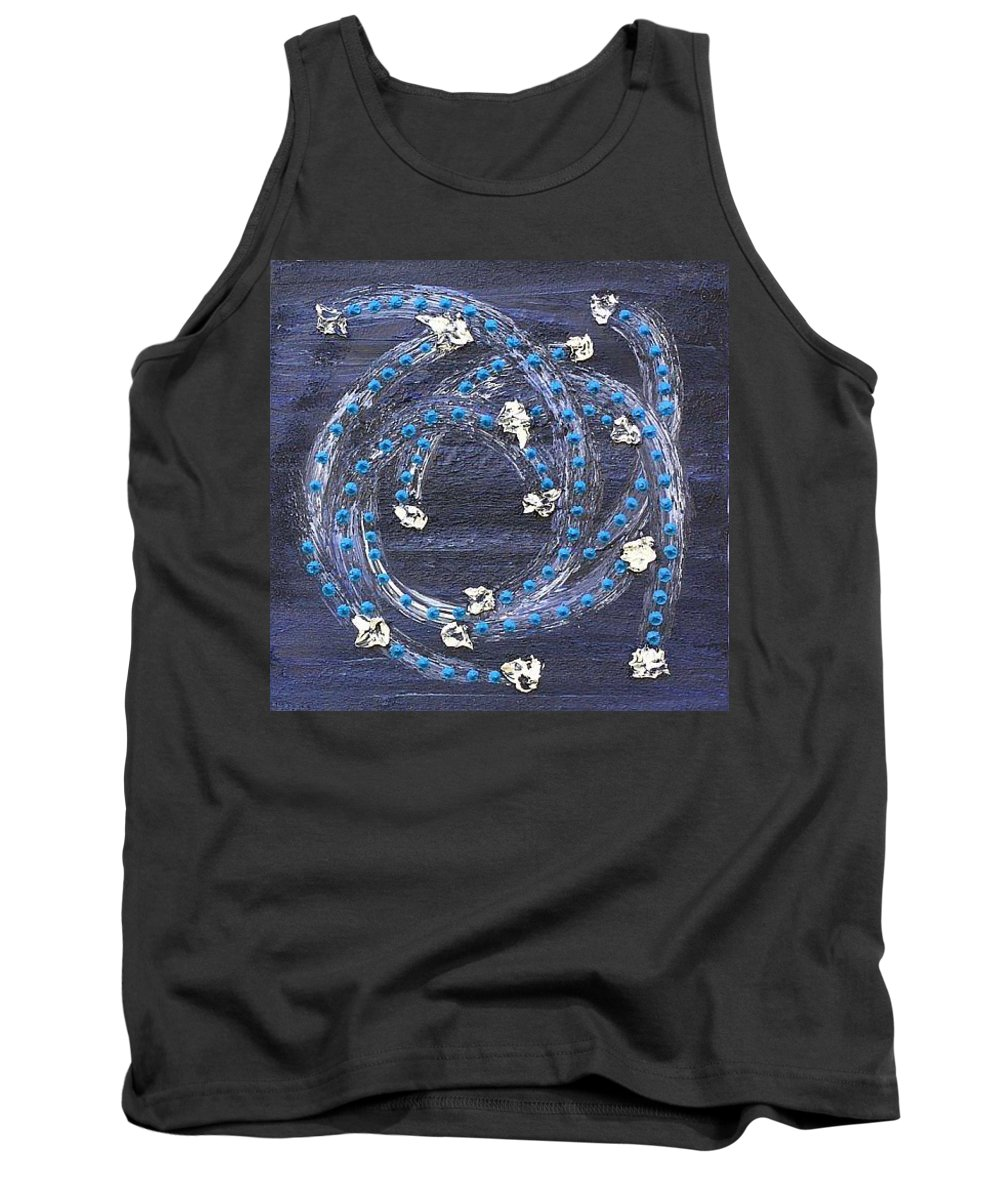 Moveonart! Digital Gallery Tank Top featuring the painting Moveonart Crossing Paths by Jacob Kanduch