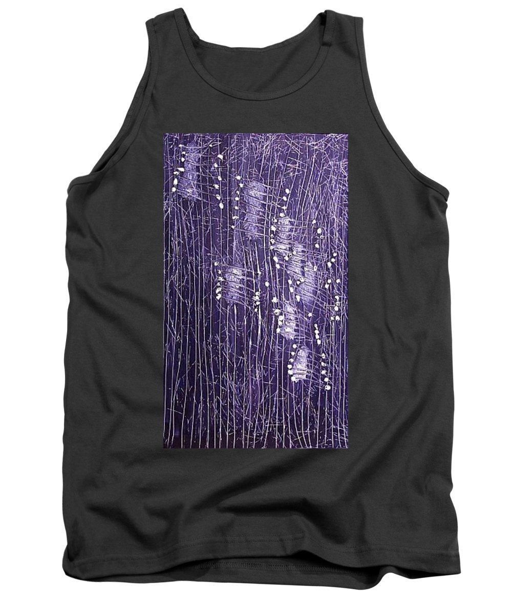 Moveonart! Digital Gallery Tank Top featuring the painting Moveonart Days Of Yore by Jacob Kanduch