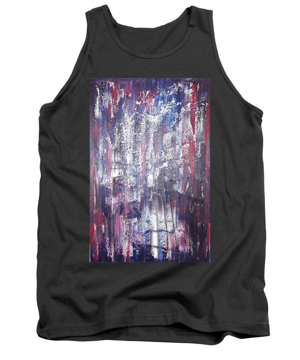 Moveonart! Digital Gallery Tank Top featuring the painting Moveonart Deep Calling Deep by Jacob Kanduch