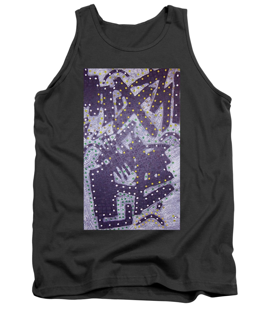 Moveonart! Digital Gallery Tank Top featuring the painting Moveonart Ex Communicated by Jacob Kanduch