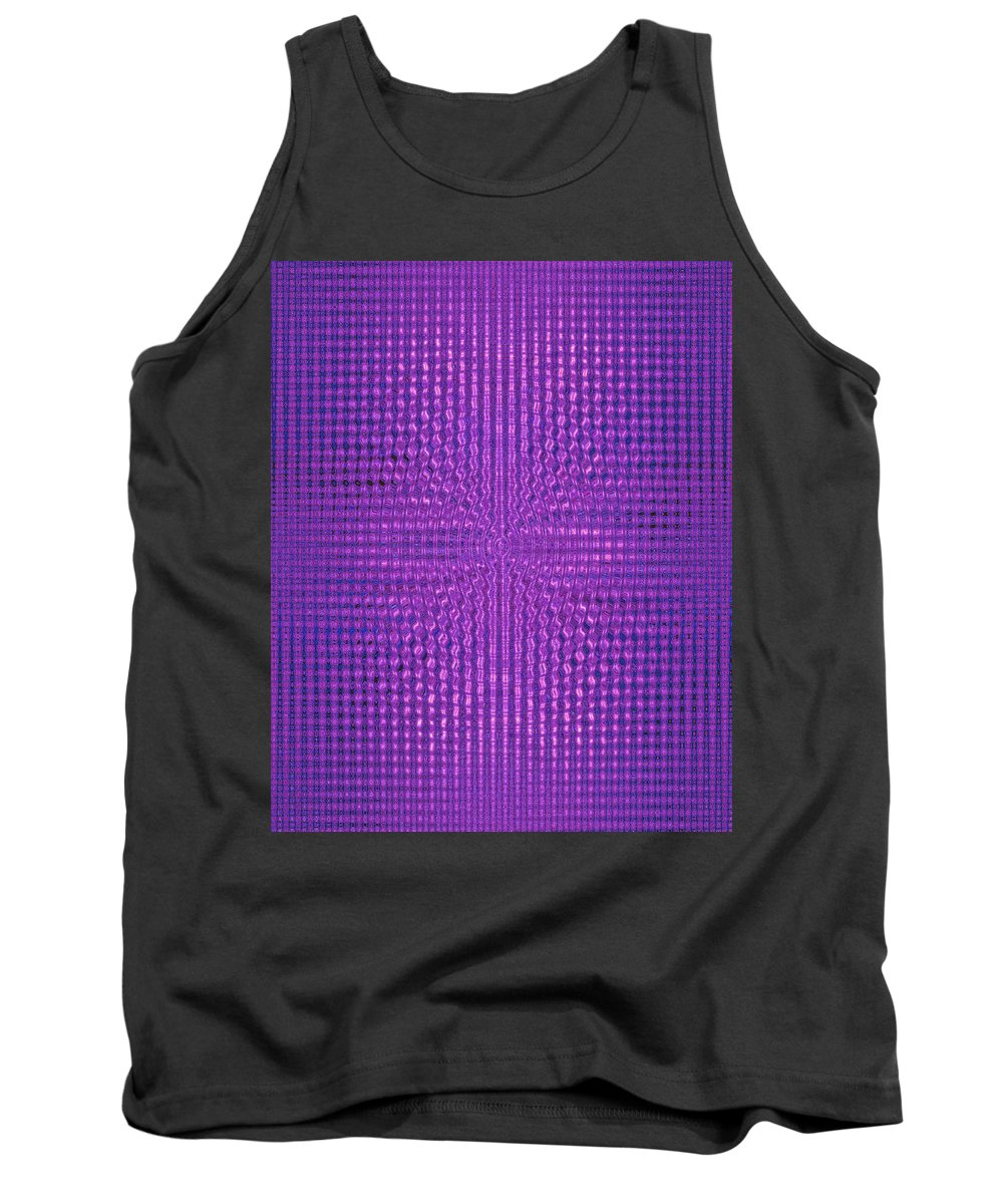 Moveonart! Digital Gallery Tank Top featuring the digital art Moveonart Intentionally Intelligently Impressed Violet Therapy One by Jacob Kanduch
