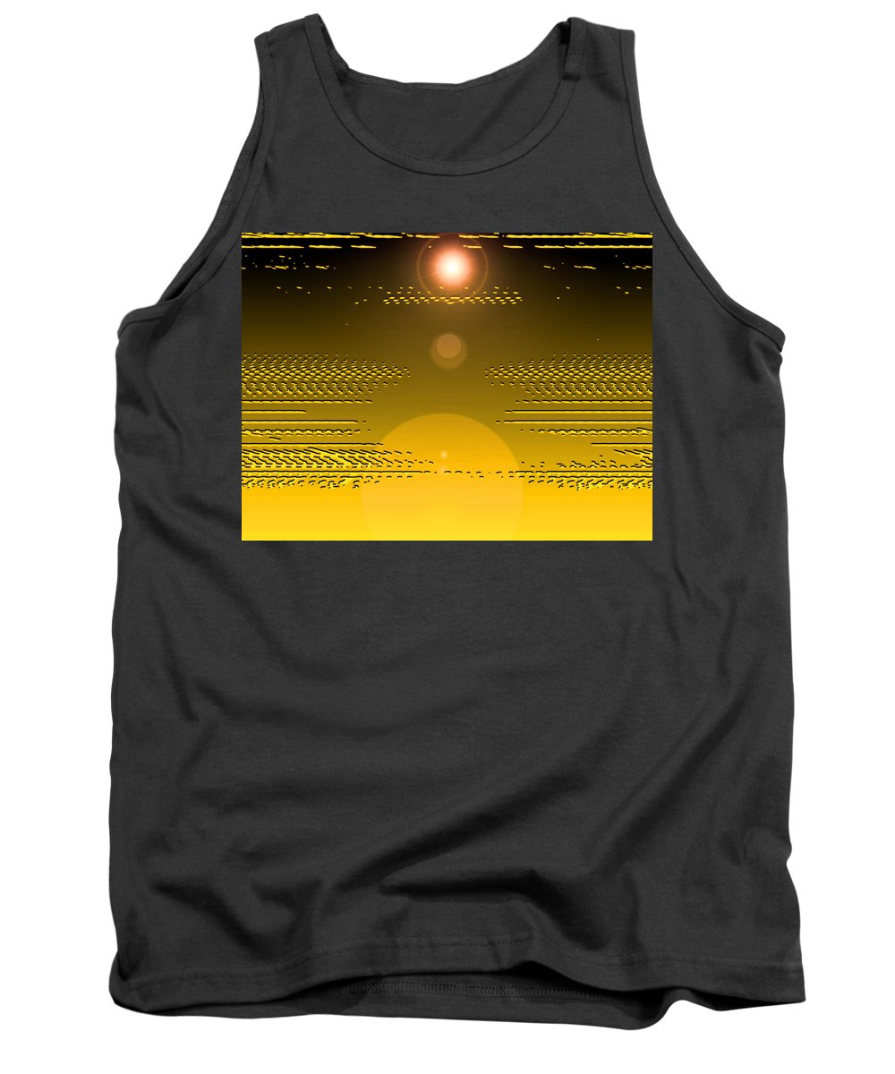 Moveonart! Digital Gallery Tank Top featuring the digital art Moveonart Light Rise In The Darkness by Jacob Kanduch