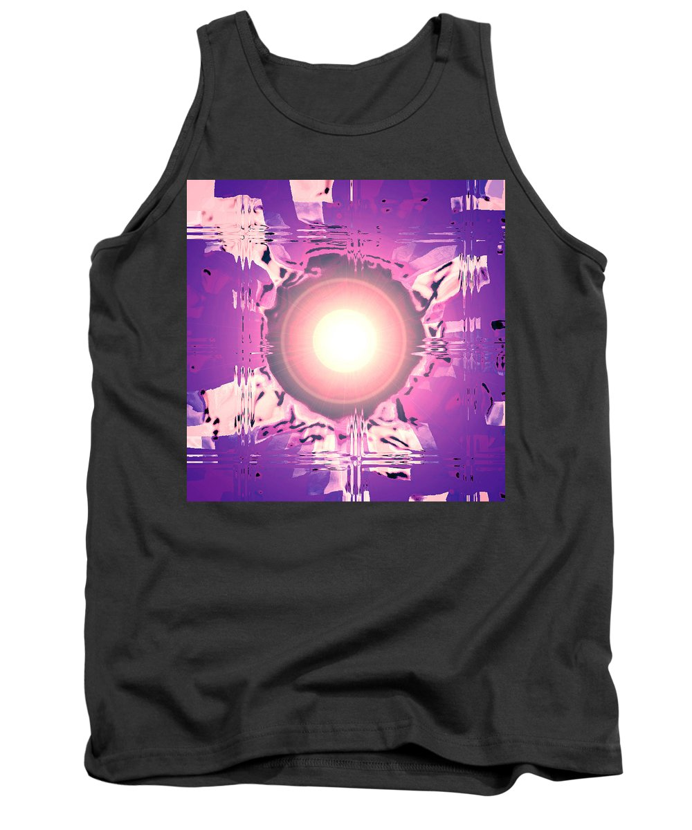 Moveonart! Digital Gallery Tank Top featuring the digital art Moveonart Oh Is That So  Violet by Jacob Kanduch