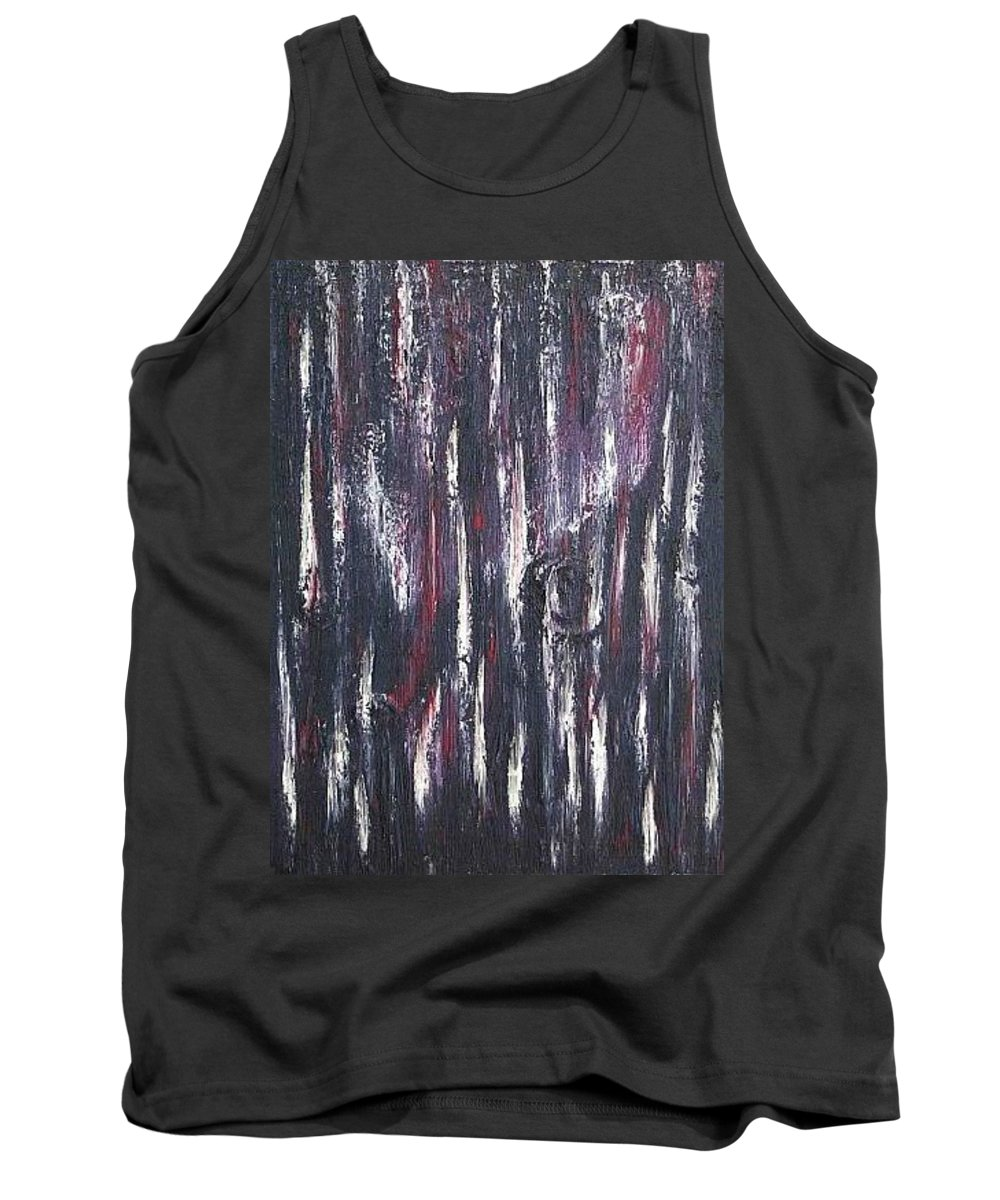 M Tank Top featuring the painting Moveonart Protecting My Thoughts by Jacob Kanduch