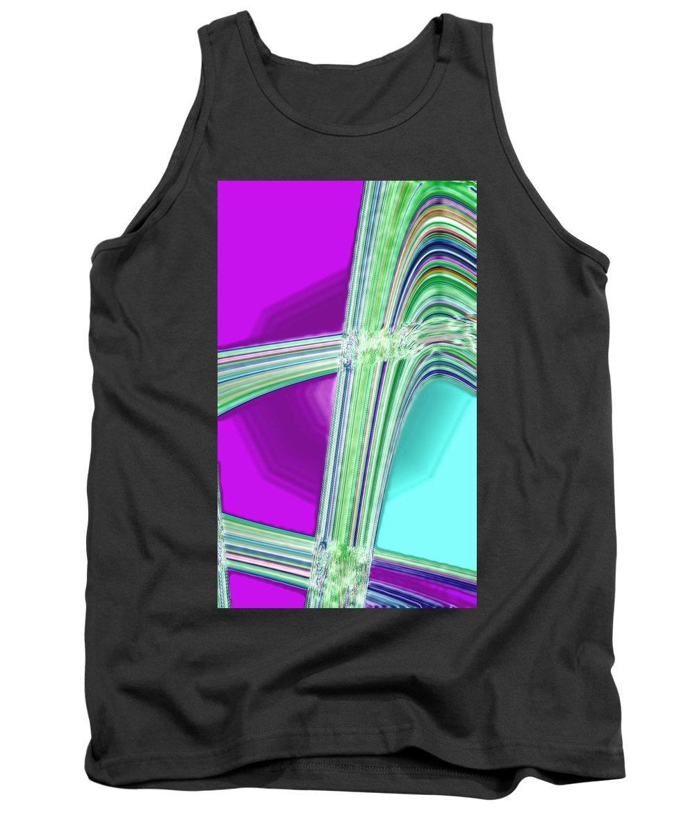 Moveonart! Digital Gallery Tank Top featuring the digital art Moveonart Provide Us With Waves Amen by Jacob Kanduch