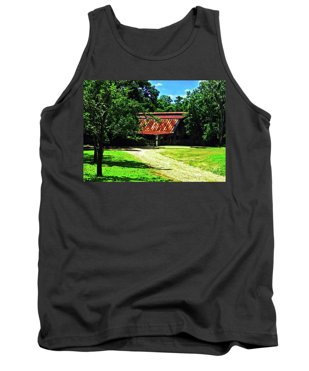 Barn Tank Top featuring the photograph Moving Toward The Shade by Lydia Holly