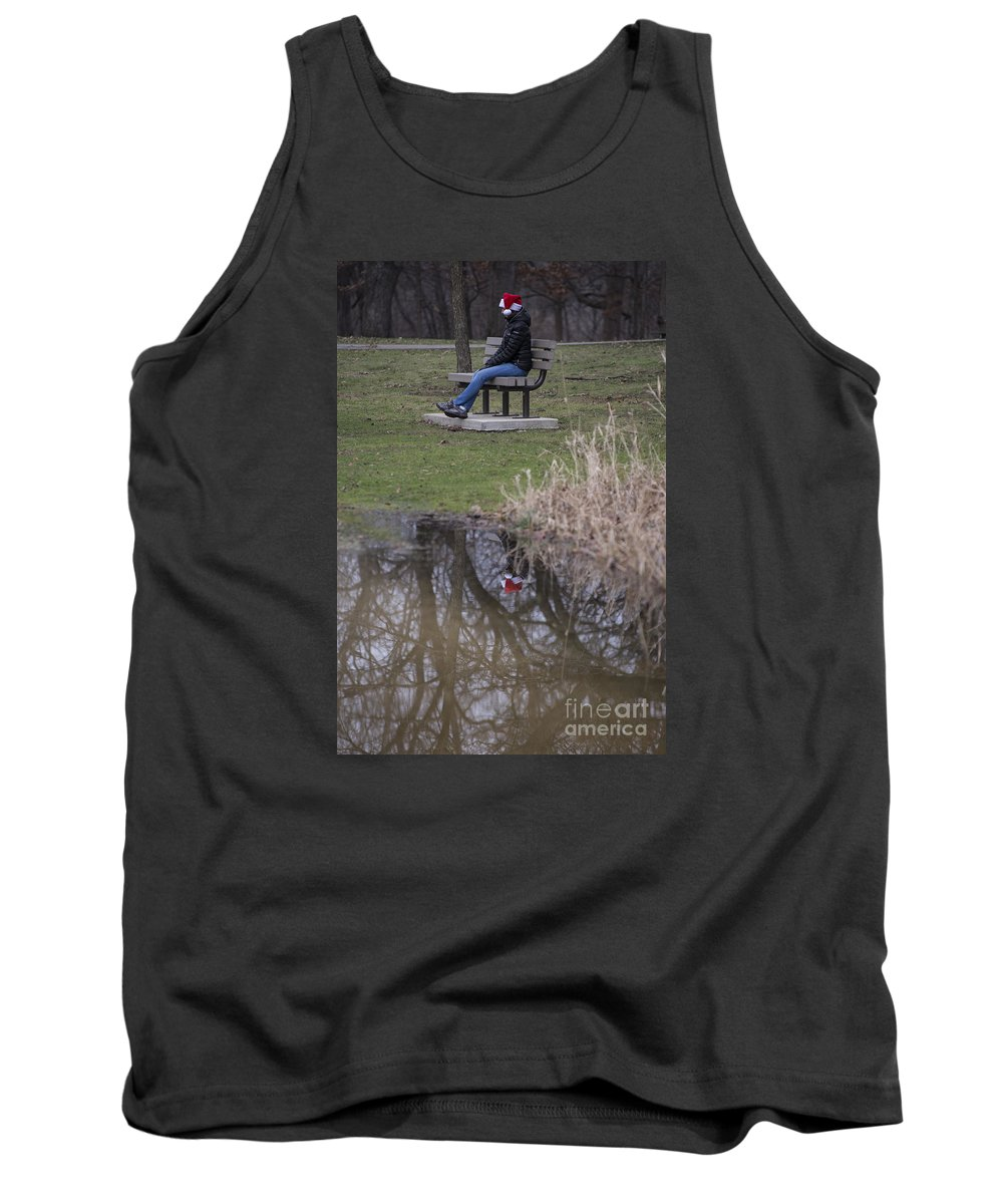 Woods Tank Top featuring the photograph Ms Claus Reflects On The Year by David Bearden