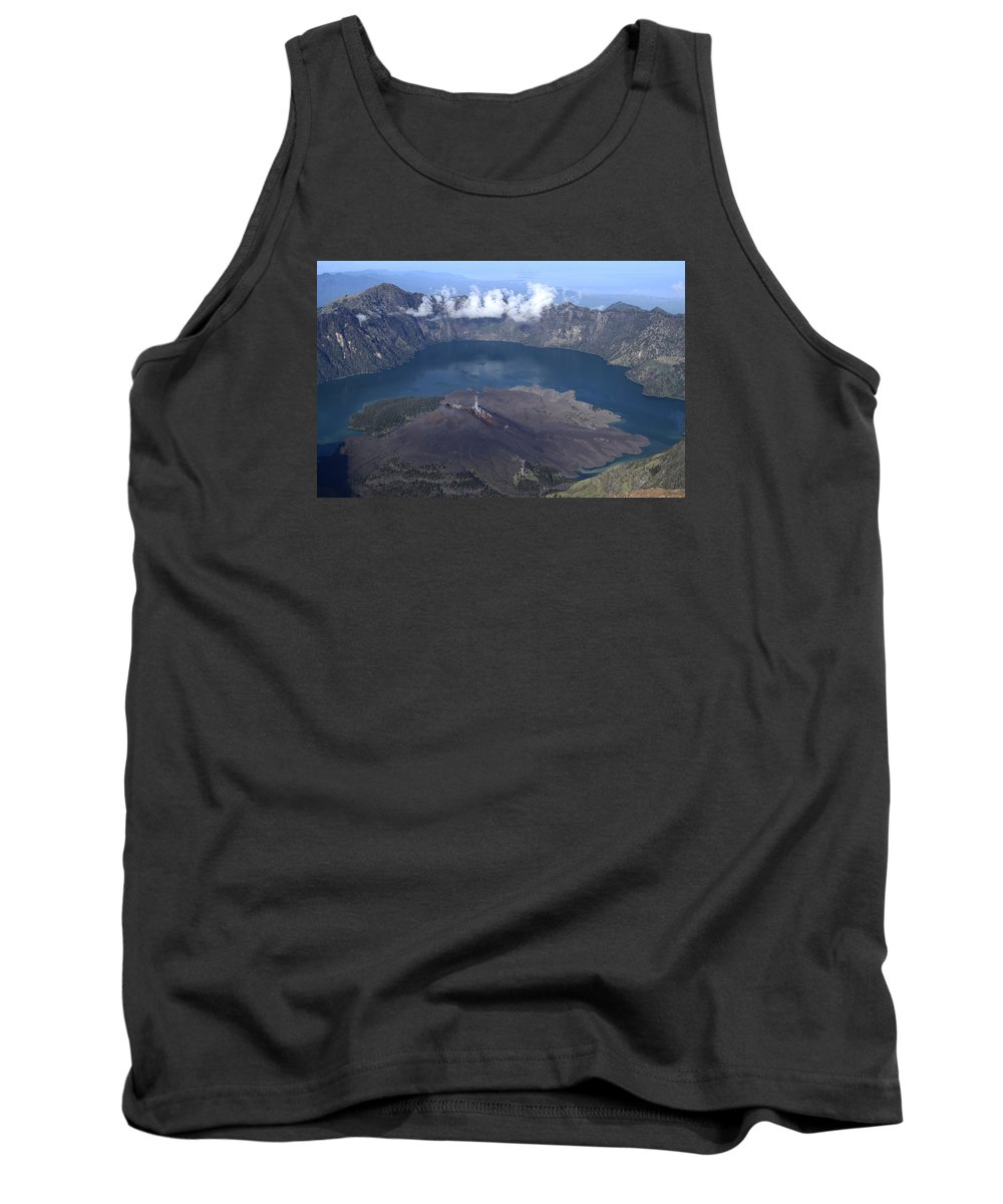 Mountain Tank Top featuring the photograph Mt Rinjani by W Fifi Andriasih