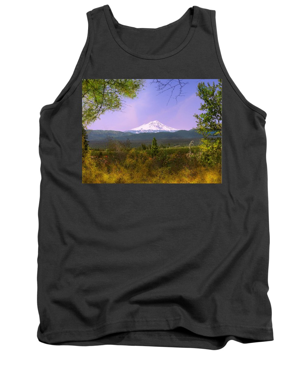 Landscapes Tank Top featuring the photograph Mt. Shasta by Karen W Meyer
