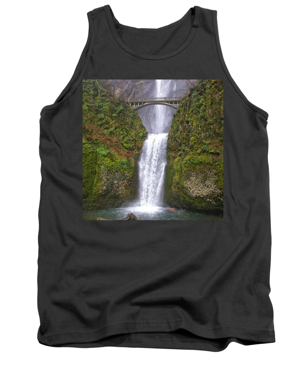 Clearwater Falls Tank Top featuring the photograph Multnomah Falls 1 by Ingrid Smith-Johnsen