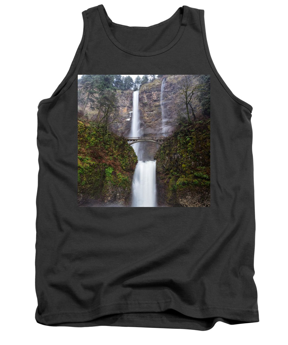 Clearwater Falls Tank Top featuring the photograph Multnomah Falls 3 by Ingrid Smith-Johnsen