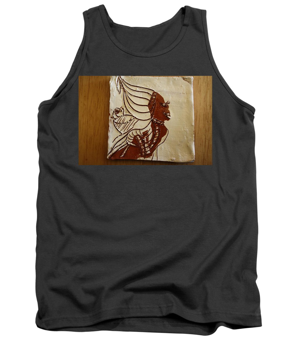 Jesus Tank Top featuring the ceramic art Mums Babe - Tile by Gloria Ssali