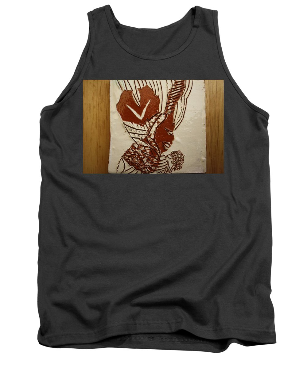 Jesus Tank Top featuring the ceramic art Mums Looking - Tile by Gloria Ssali