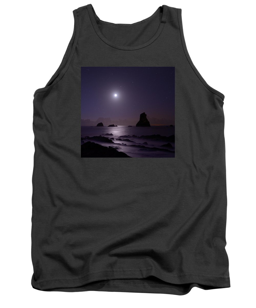 Mupe Tank Top featuring the photograph Mupe Bay Moonlight by Giovanni Giuliano