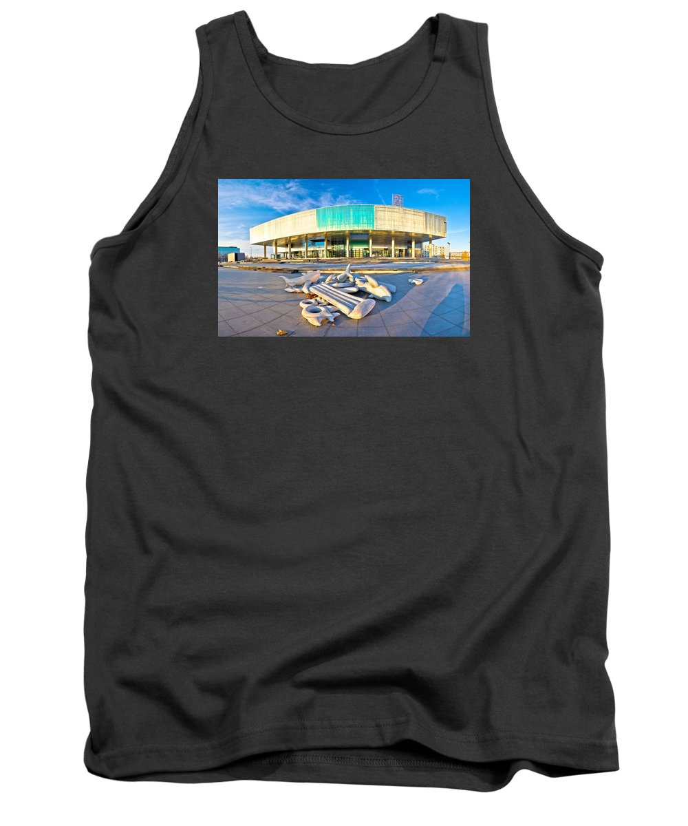 Contemporary Tank Top featuring the photograph Museum Of Contemporary Art In Zagreb by Brch Photography