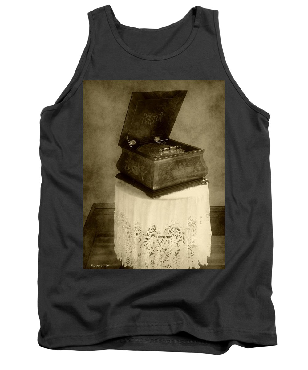 Antique Tank Top featuring the photograph Music Box Memories by RC DeWinter