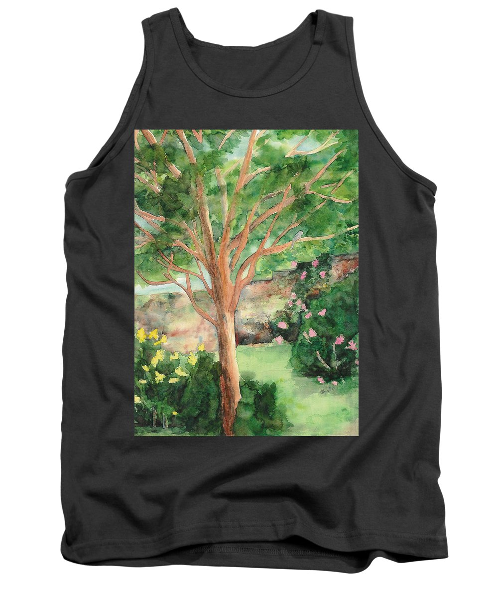 Landscape Tank Top featuring the painting My Backyard by Vicki Housel