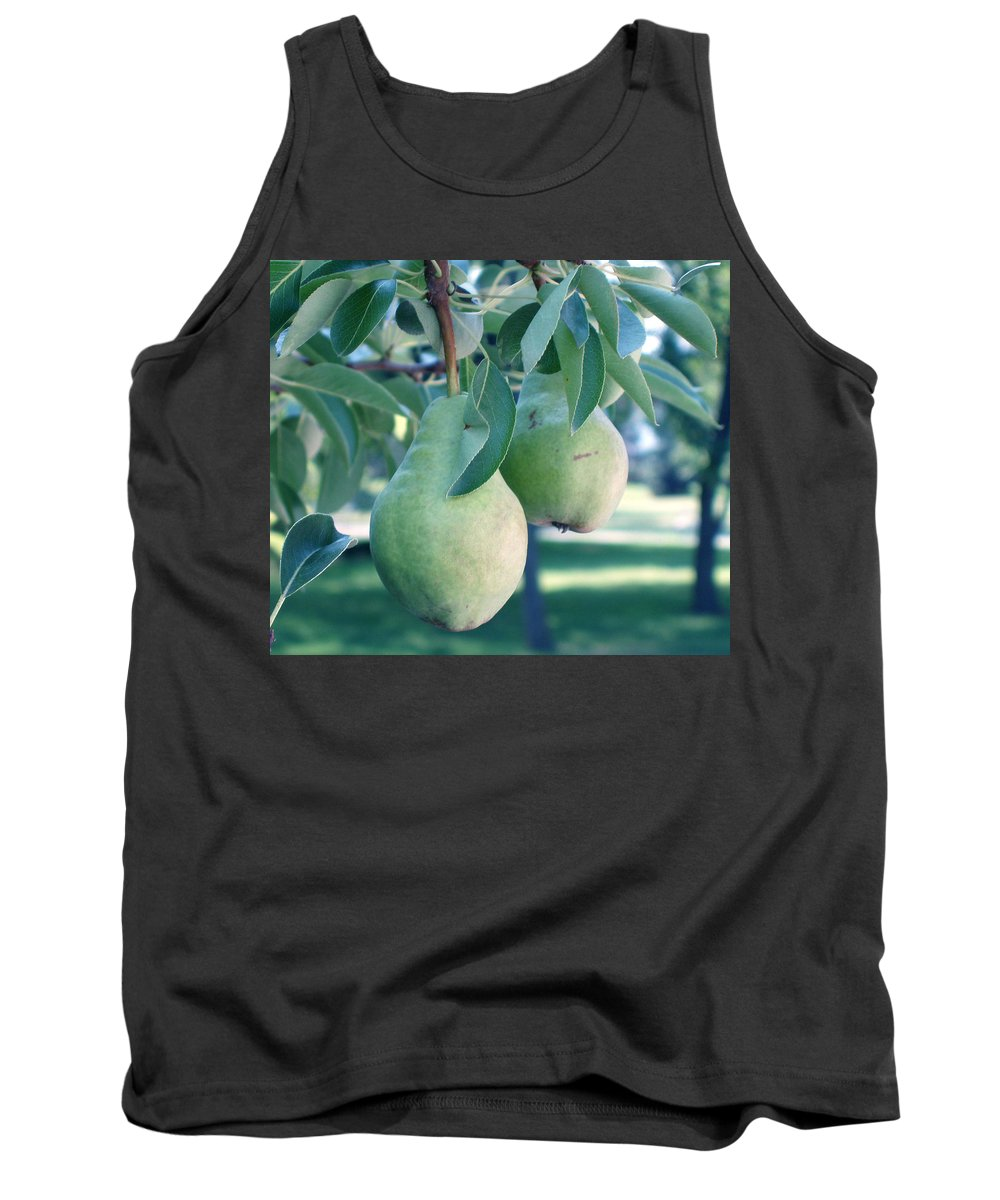 Pears Tank Top featuring the painting My Brothers Pear Tree by Wayne Potrafka