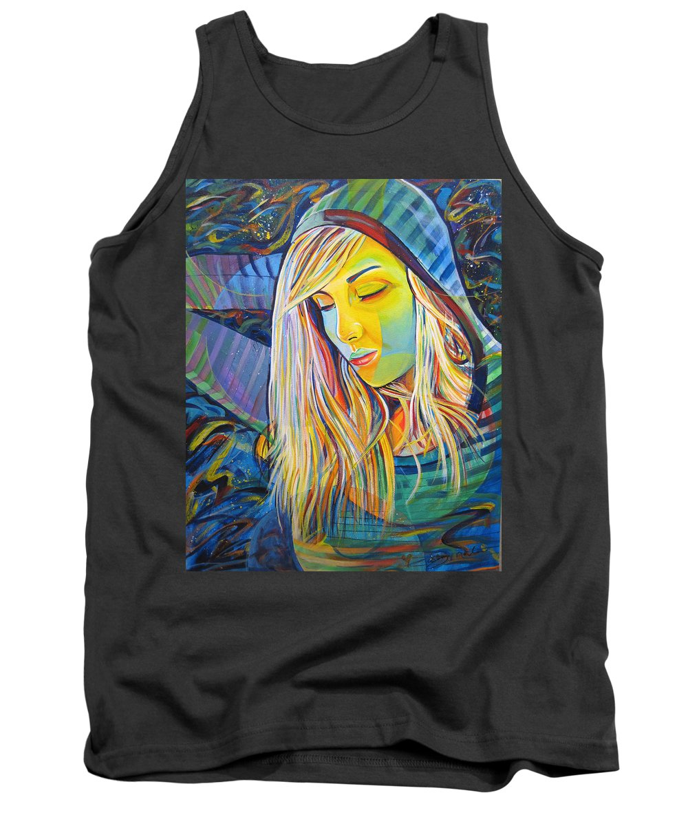 Colorful Tank Top featuring the painting My Love by Joshua Morton