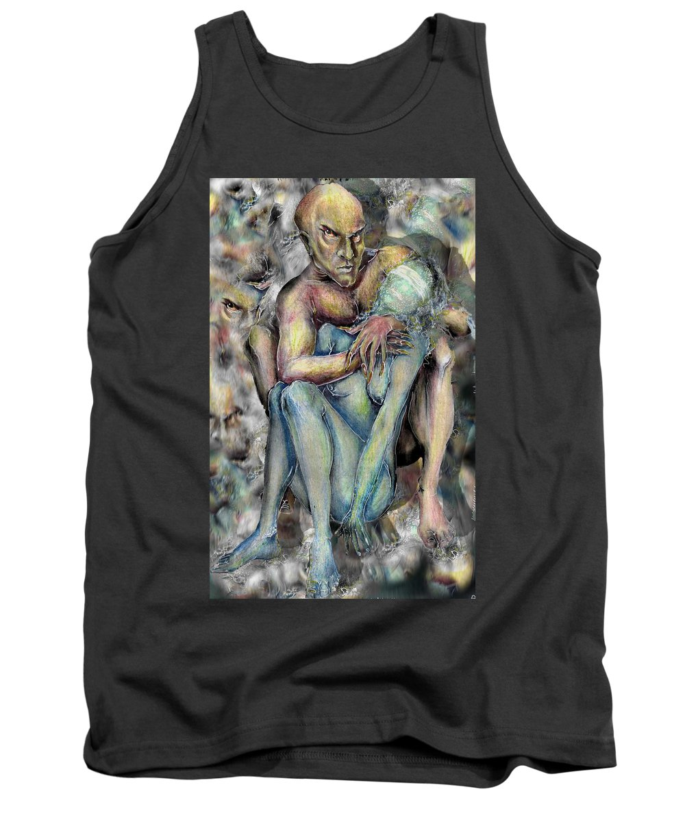 Demons Love Passion Control Posession Woman Lust Tank Top featuring the mixed media My Precious by Veronica Jackson