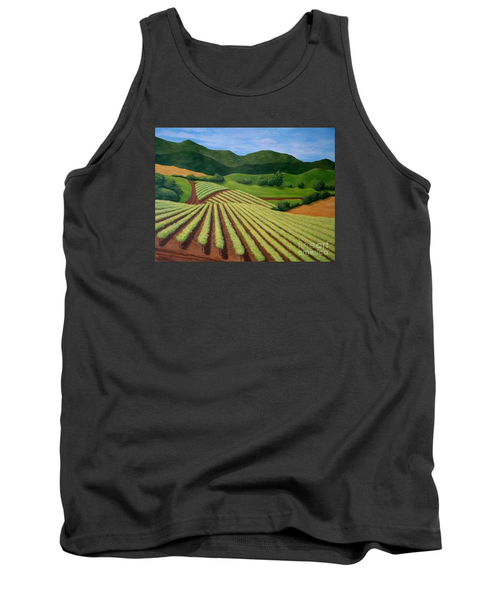 Vineyard Tank Top featuring the painting My Vineyard by Shawn Stallings