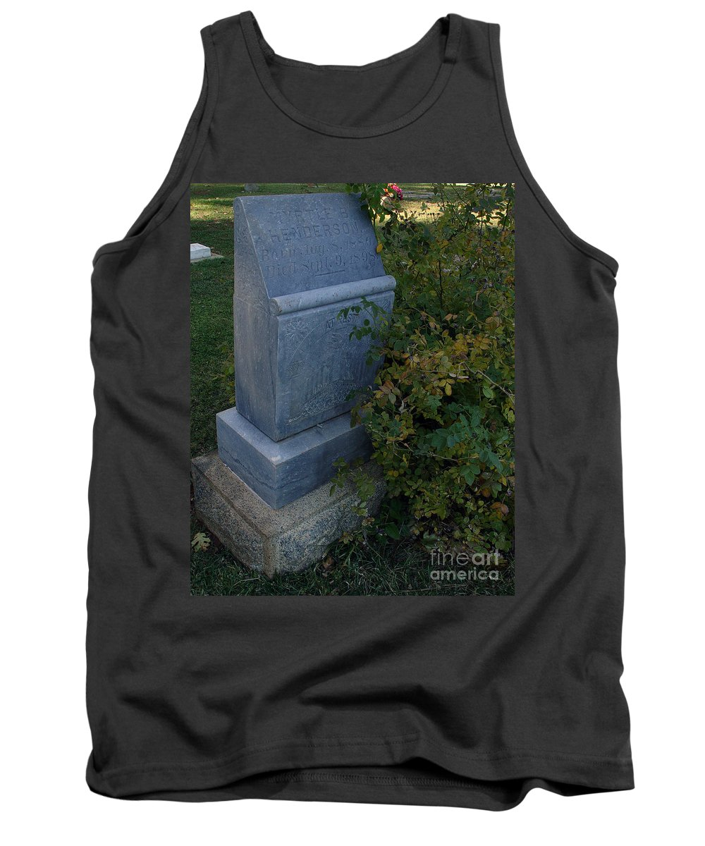 Headstone Tank Top featuring the photograph Myrtle At Rest by Peter Piatt