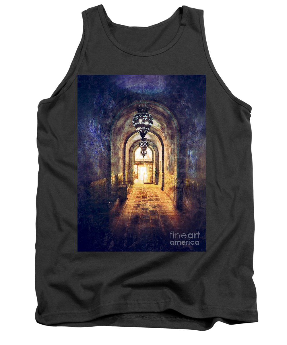 Hall Tank Top featuring the photograph Mysterious Hallway by Jill Battaglia