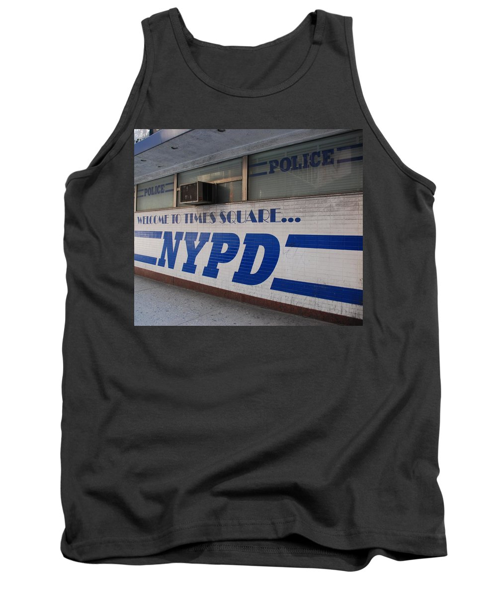 Nypd Tank Top featuring the photograph N Y P D Blue by Rob Hans