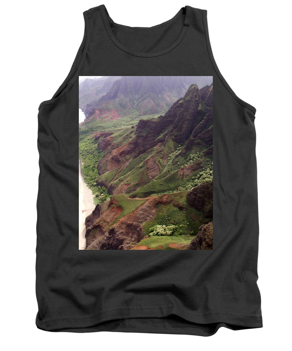 Na Pali Tank Top featuring the photograph Na Pali Coast by Amy Fose