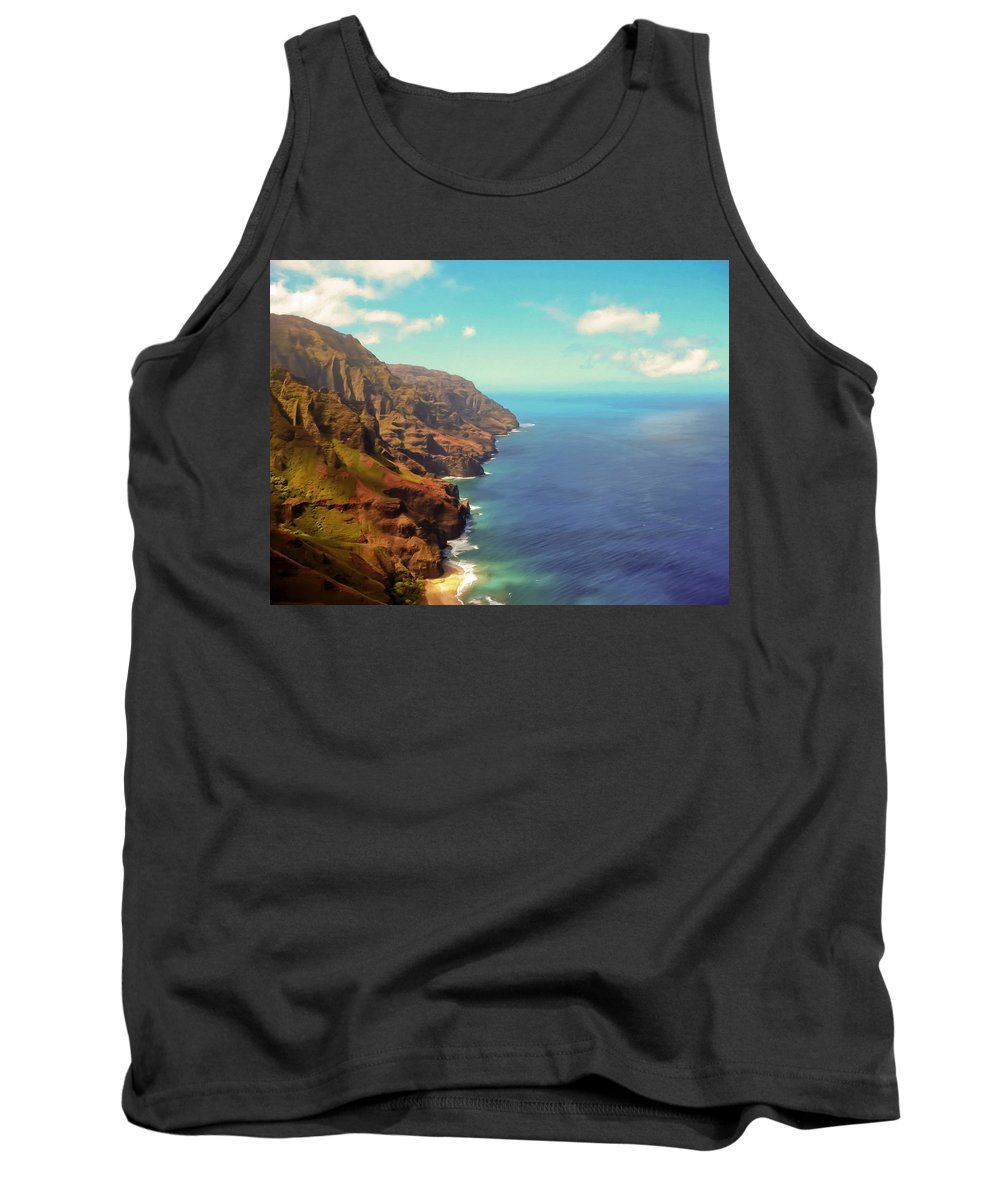 Kauai Tank Top featuring the photograph Na Pali Coast by Susan Rissi Tregoning